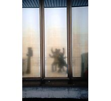 Triptych Step Away Reflection Photographic Print