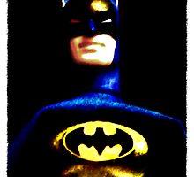 Batman Action Figure Portrait by Gothamwood
