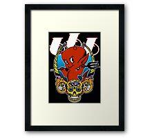 Little Red Devil & Sugar Skull! Framed Print