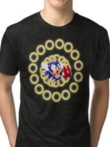 Classic Sonic - Ring loss  Tri-blend T-Shirt