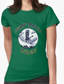 SURF ROCK RULES! Womens Fitted T-Shirt