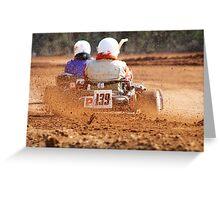 GO Karting Greeting Card