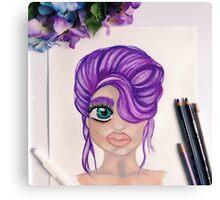 A Purple up do Canvas Print