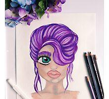 A Purple up do Photographic Print