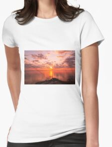 New England Sunrise Womens Fitted T-Shirt