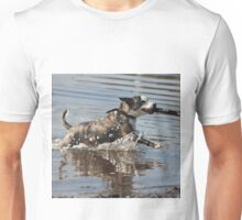 Dog playing 1 Unisex T-Shirt