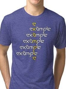 Example - Crossed Words Tri-blend T-Shirt