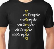 Example - Crossed Words Unisex T-Shirt