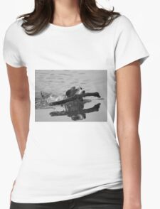 Dog playing 2 Womens Fitted T-Shirt
