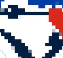 8 Bit Blue Jays Art Sticker
