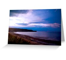 Sandsend Beach Greeting Card