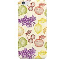 Retro fruits pattern iPhone Case/Skin