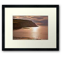 Sunset at Boulby Framed Print
