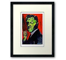Vincent Price taking a smoke break Framed Print
