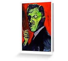 Vincent Price taking a smoke break Greeting Card