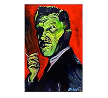 Vincent Price taking a smoke break Photographic Print