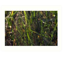 Green cobwebs Art Print