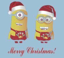 Merry Christmas!  Minion Xmas Present Kids Clothes