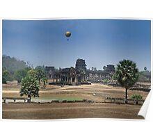 Balloon over Angkor Poster