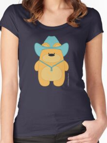 CowBear - Blond Women's Fitted Scoop T-Shirt