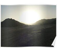 Lonely desert Poster