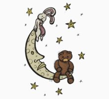 Teddy Bear and Bunny - Caught In The Moonlight T-Shirt