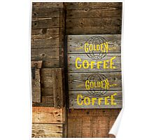 Golden Coffee Poster