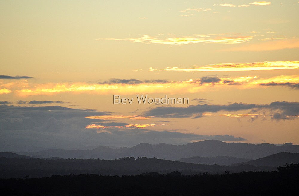Sunset from Forster NSW Australia by Bev Woodman