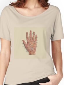 Hand with acupressure points Women's Relaxed Fit T-Shirt
