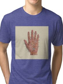 Hand with acupressure points Tri-blend T-Shirt