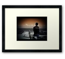 the boy with dreams Framed Print