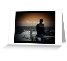 the boy with dreams Greeting Card