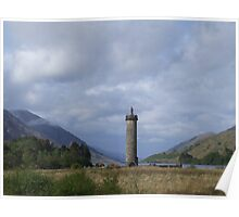 Glenfinnan Monument, Scotland Poster