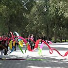 Fun with ribbons, Temple of Heaven, Beijing, China by Philip Mitchell