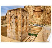 Naqsh-E Rostam - Ka'bah of Zoroaster - Necropolis - Iran Poster
