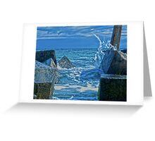 Liquid Silver at Freo. Greeting Card