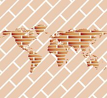 Bricks world map by Laschon Robert Paul