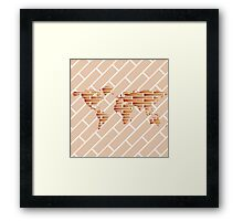 Bricks world map Framed Print