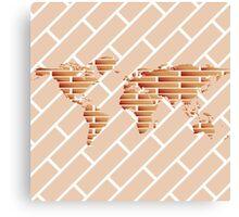 Bricks world map Canvas Print