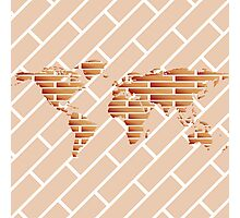 Bricks world map Photographic Print