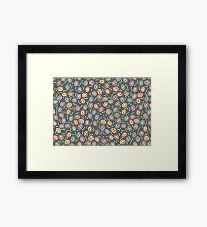 Mushroom Kingdom Flowers Framed Print