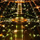 Paris from the air at night by thecaswell