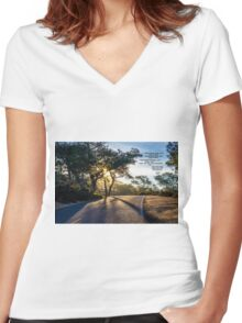 ROAD Women's Fitted V-Neck T-Shirt