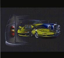 Renault 4, Lotus Elan mk II, Mercedes 450 SEL by vanaubeldesign