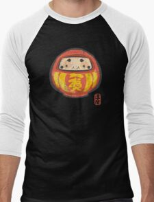 Daruma [Special Lucky Toy Box] Men's Baseball ¾ T-Shirt