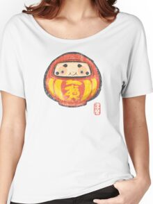 Daruma [Special Lucky Toy Box] Women's Relaxed Fit T-Shirt