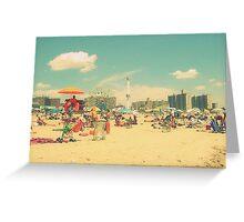 Retro Coney Island Greeting Card