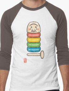 DarumaOtoshi [Special Lucky Toy Box] Men's Baseball ¾ T-Shirt