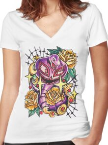 Arbok Women's Fitted V-Neck T-Shirt