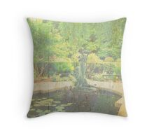 Lily Pond in Central Park Throw Pillow